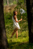 Young girl Entomologist Royalty Free Stock Images