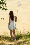 Young girl Entomologist Stock Photography