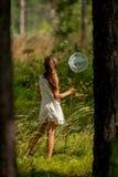 Young girl Entomologist Royalty Free Stock Photos