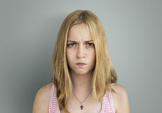 Young Girl Envy Irritated Concept Stock Photos