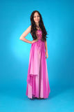 Young girl in evening dress Royalty Free Stock Photos