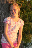 Young girl in the evening sun. Royalty Free Stock Photos