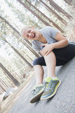 Young Girl Exercising Stock Images