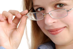 Young girl with eyeglasses Stock Image