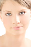 Young girl. Face of a young beautiful girl Stock Images