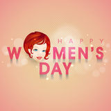 Young girl face for Happy Women's Day celebration. Royalty Free Stock Images