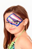 Young Girl with Face Paint Stock Photo