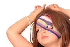 Young Girl with Face Paint Royalty Free Stock Image