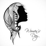 Young girl face for Women's Day celebration. Royalty Free Stock Photos