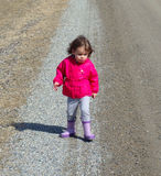 A young girl at a farm in southern ontario Stock Photo