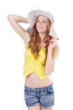 Young girl in fashion concepts Stock Photography