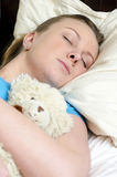 Young girl fell asleep Stock Images