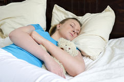 Young girl fell asleep Stock Photography