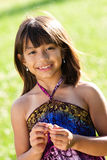 Young girl in a field Royalty Free Stock Photography