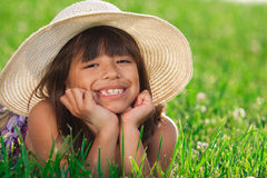 Young girl in a field Royalty Free Stock Photo