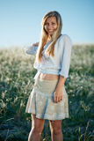 Young girl in field Stock Photos
