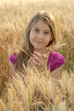 Young girl in the field Royalty Free Stock Photo