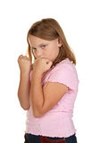 Young girl fighting Royalty Free Stock Photo