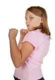 Young girl fighting Royalty Free Stock Photos