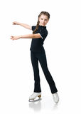 Young girl figure skating Stock Image