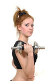Young girl in fitness Stock Photography