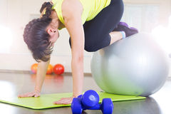 Young girl fitness workout Royalty Free Stock Photo