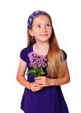 Young girl flower Royalty Free Stock Photos