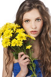 Young girl with flower royalty free stock image