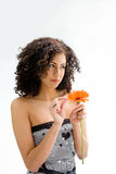 Young girl with flower Stock Image
