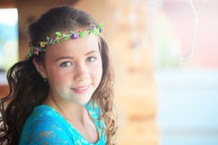 Young girl with flower Royalty Free Stock Images