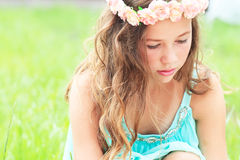 Young girl with flower Royalty Free Stock Photos