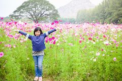 Young girl flower Stock Images