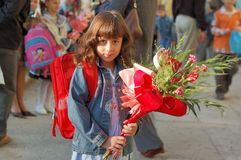 Young girl with flowers Stock Photography