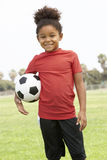 Young Girl In Football Team Royalty Free Stock Photo