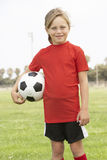 Young Girl In Football Team Royalty Free Stock Photos