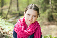 Young girl in a forest Royalty Free Stock Photo