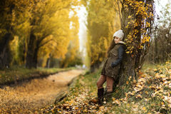 Young girl in the forest. Ranger Stock Image
