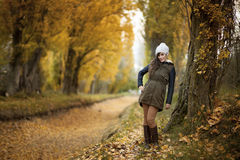 Young girl in the forest. Ranger Royalty Free Stock Photo