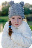 Young girl freeze outdoor Stock Photo