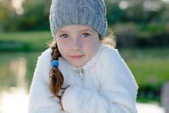 Young girl freeze outdoor Stock Photography