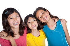 Young girl friends in a studio Stock Photos