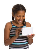 Young Girl gaming Stock Photography