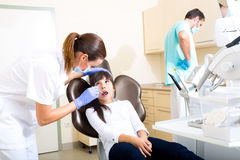 Young girl getting her dental checkup Royalty Free Stock Image
