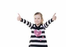 Free Young Girl Giving A Thumbs Up Sign Stock Photography - 23519582