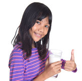 Young Girl With A Glass Of Milk VII Royalty Free Stock Images