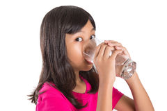 Young  Girl With A Glass Of Water I Stock Photo