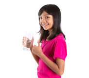 Young  Girl With A Glass Of Water IX Stock Photo