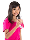 Young  Girl With A Glass Of Water V Royalty Free Stock Photography