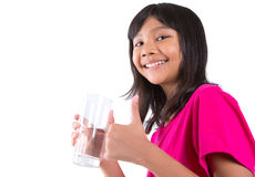 Young  Girl With A Glass Of Water VIII Royalty Free Stock Image