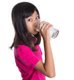 Young  Girl With A Glass Of Water X Stock Images